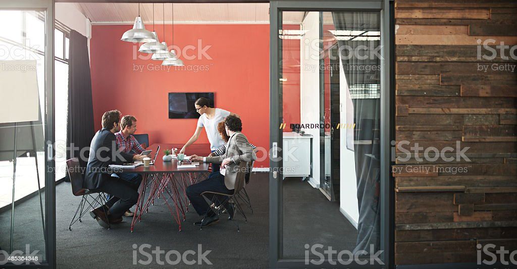 Let's get strategizing! stock photo