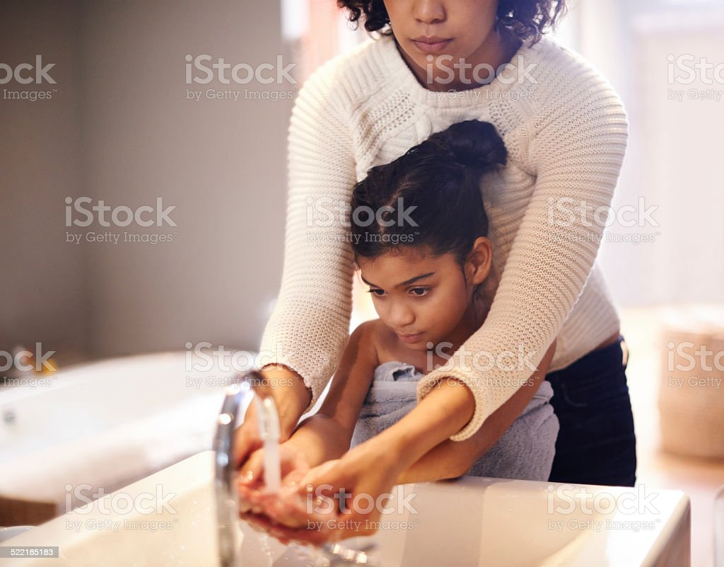 Let's get them good and clean stock photo
