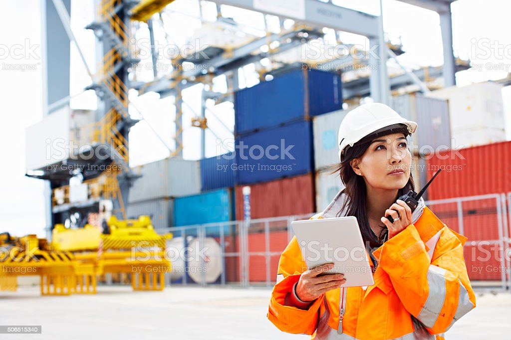 Let's get this freight moving stock photo
