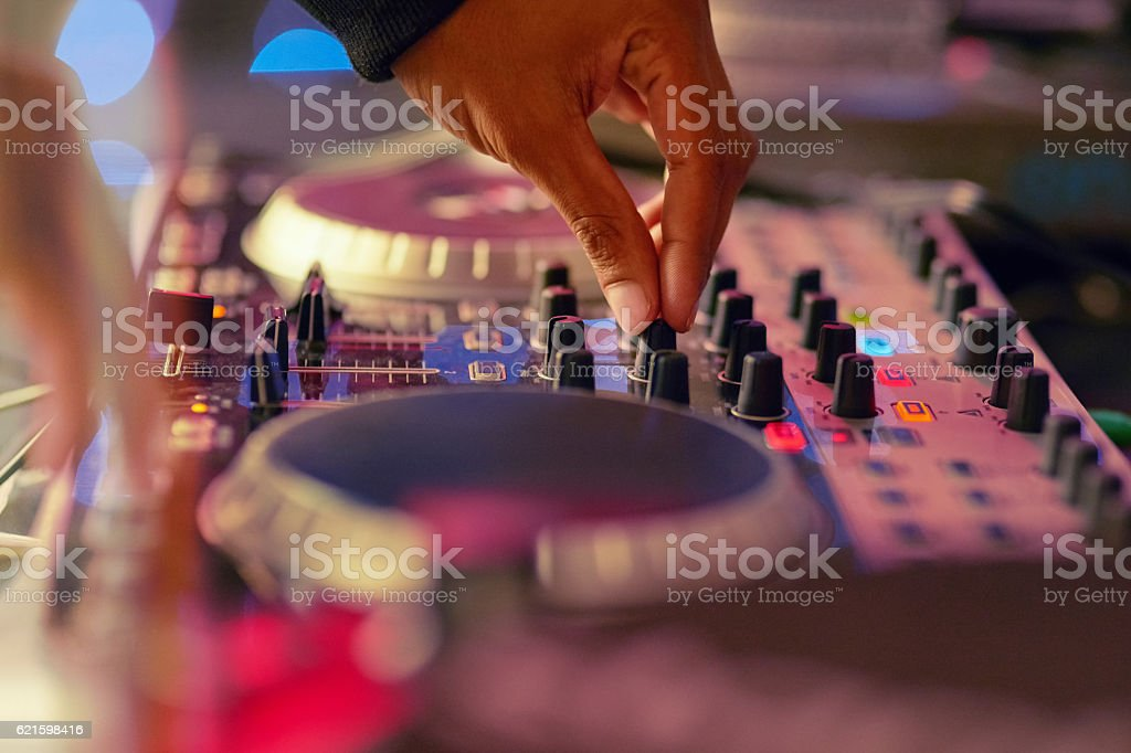Let's get this party started stock photo