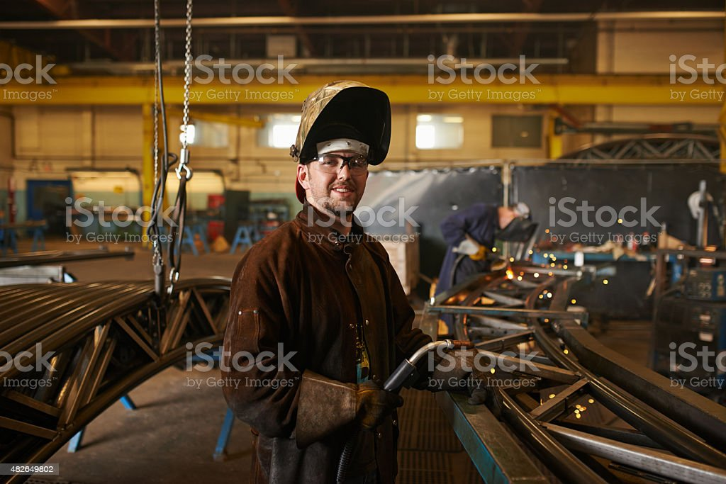 Let's get welding stock photo