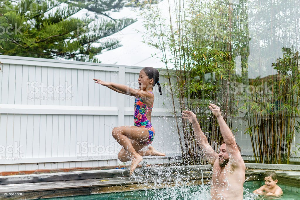 Let's go jump! stock photo