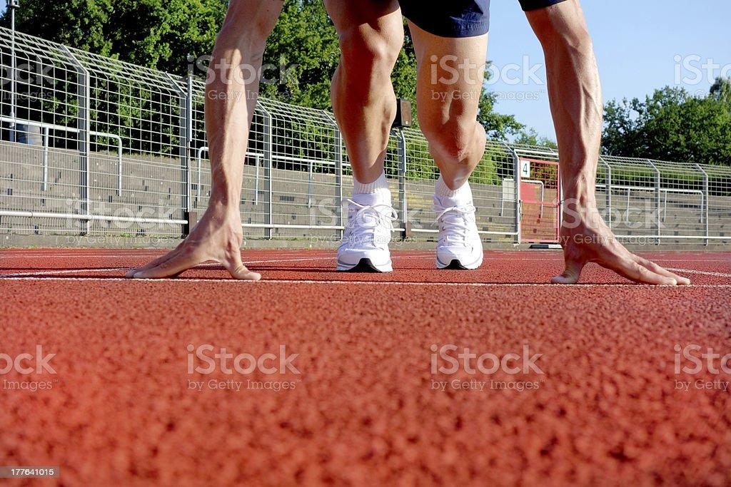 Let's go running stock photo