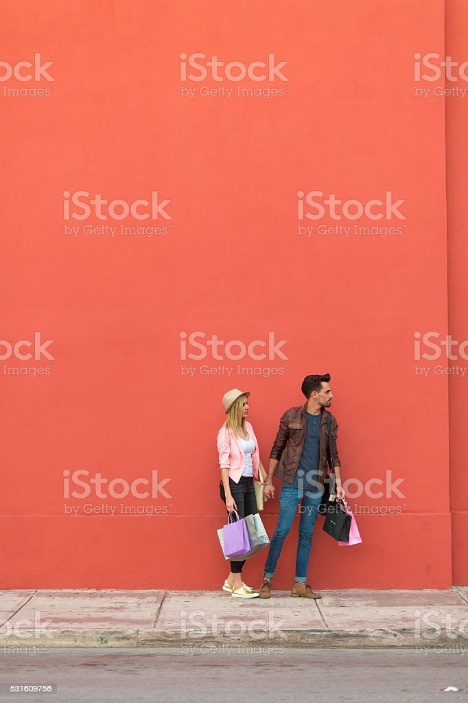 Lets go shopping stock photo