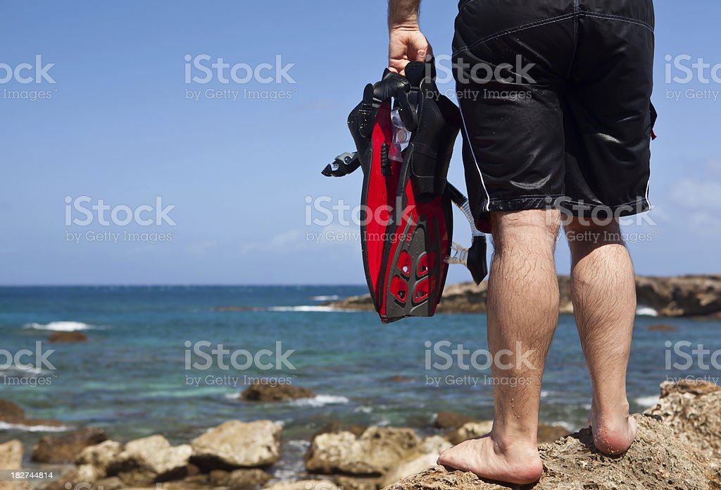 Let's go snorkeling! stock photo