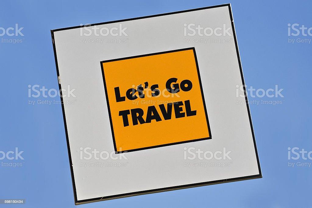 Lets Go Travel stock photo