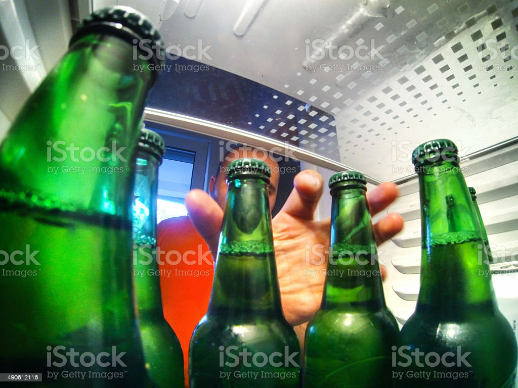Let's have a beer. stock photo