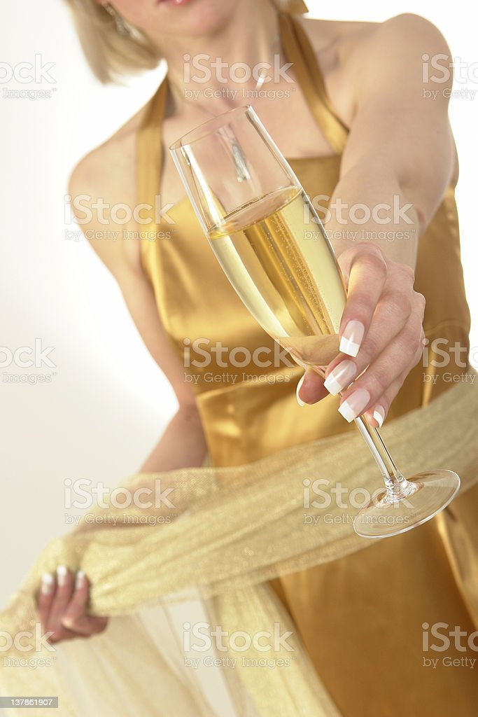 Let's have a drink royalty-free stock photo