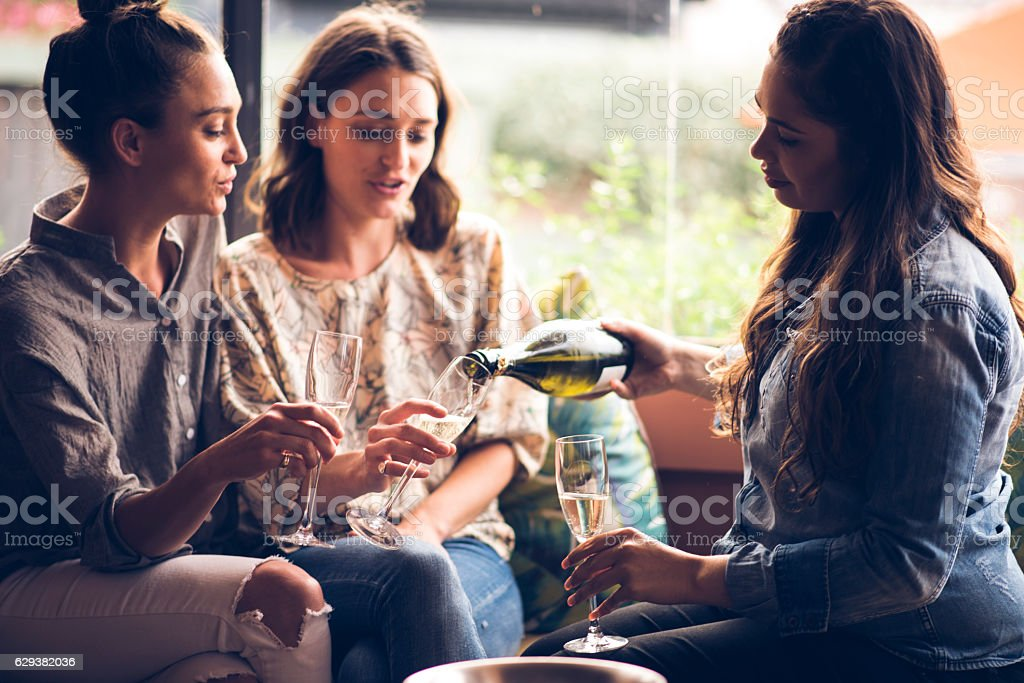 Let's have some more champaign! stock photo
