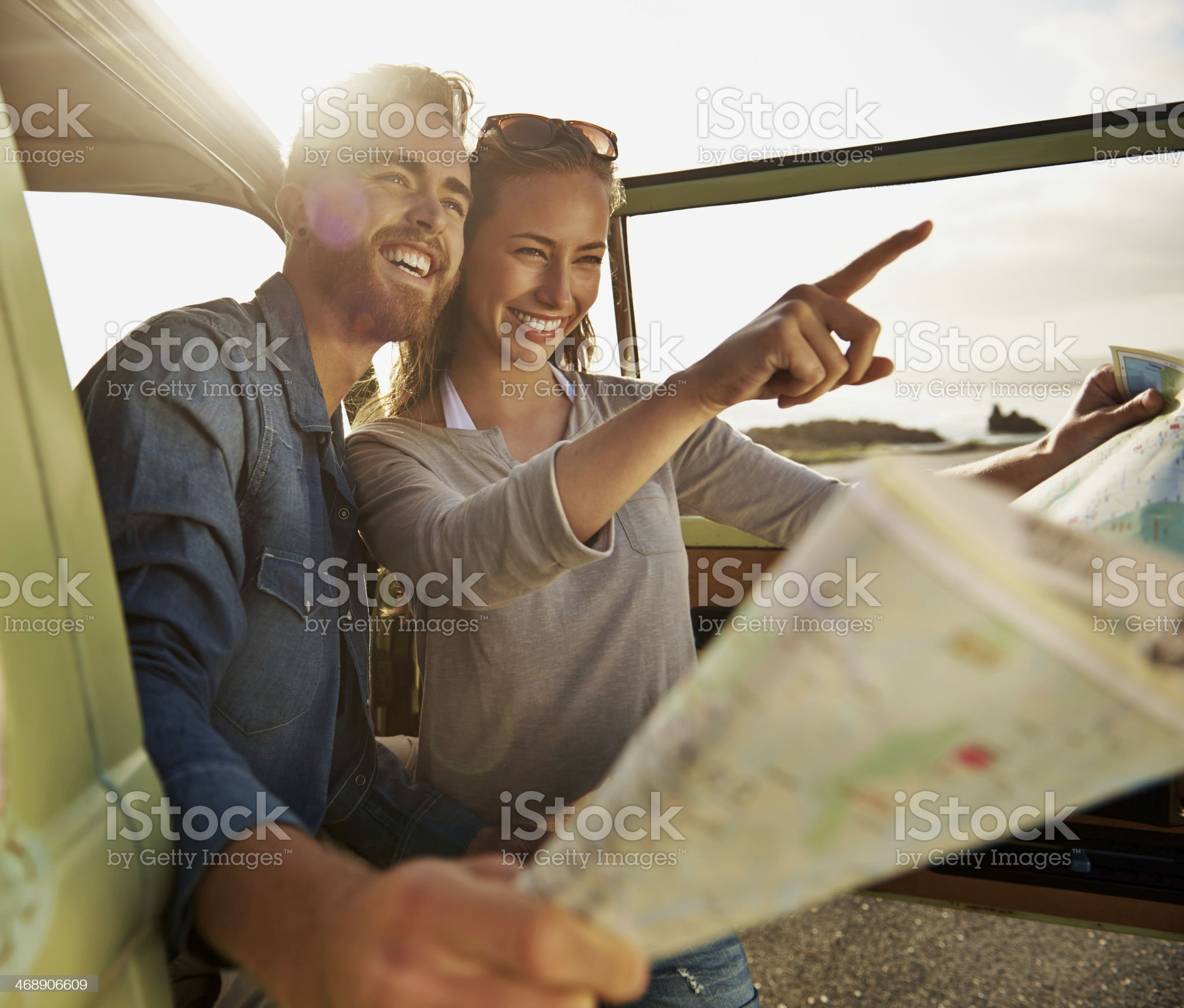 Let's head that way... royalty-free stock photo