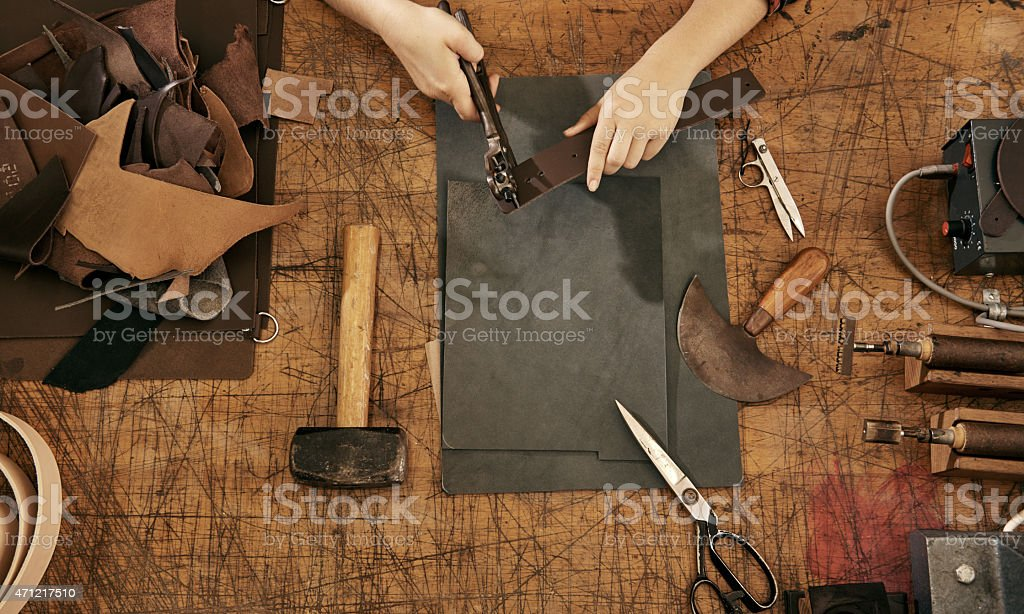 Let's leather craft stock photo