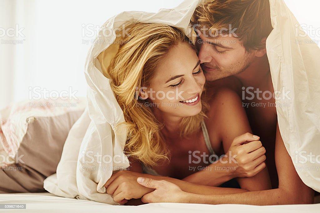 Let's make beautiful love stock photo