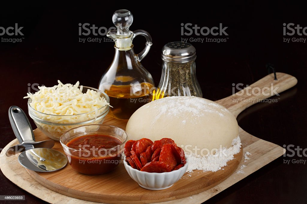 Lets Make Pizza stock photo