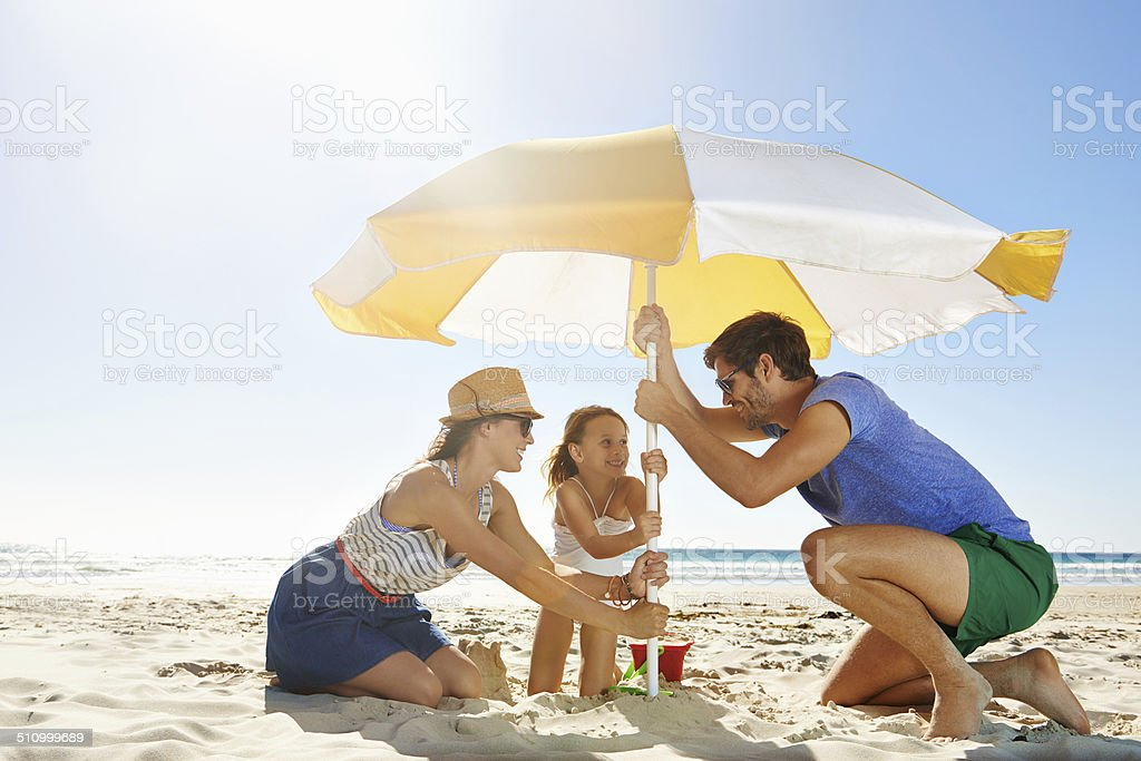 Let's make sure it doesn't blow away stock photo