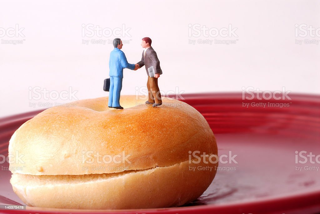 Let's Meet Over a Bagel stock photo