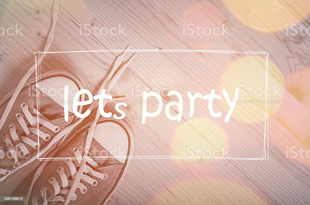 Let`s party stock photo