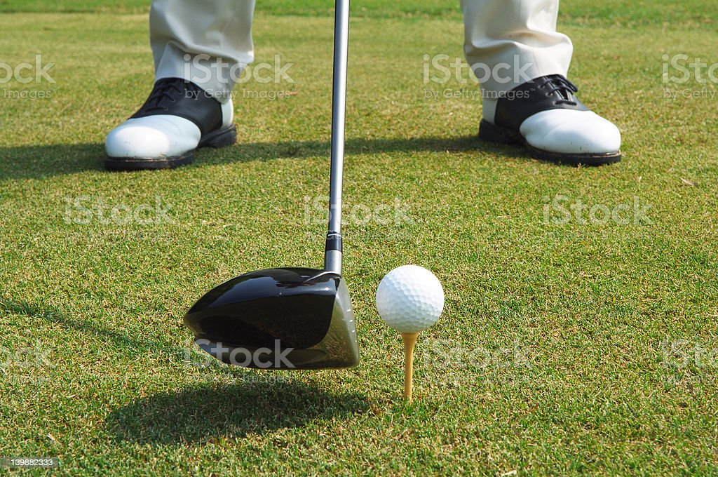 lets play ball - golf royalty-free stock photo