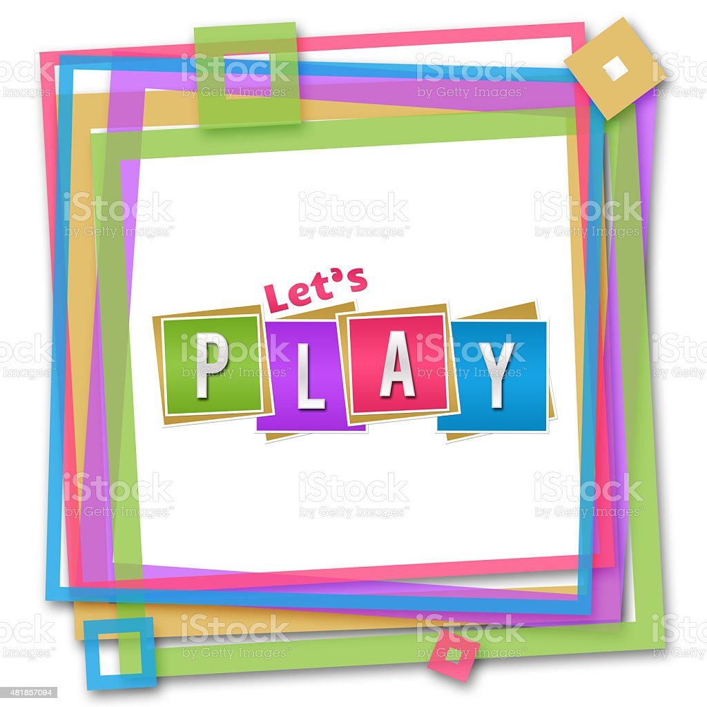 Lets Play Colorful Frame stock photo