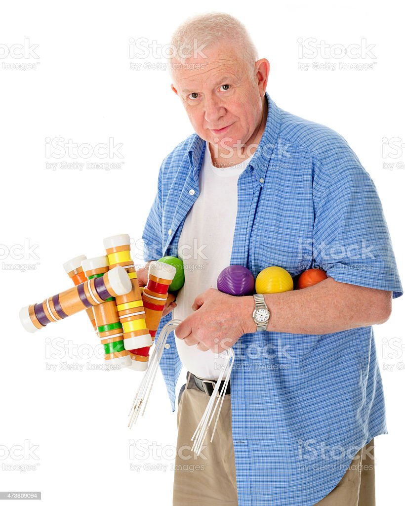 Let's Play Croquet stock photo