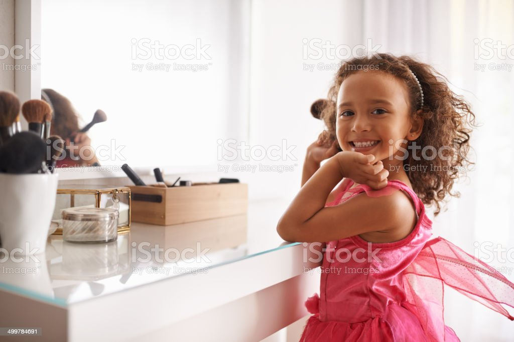 Let's play dress up stock photo