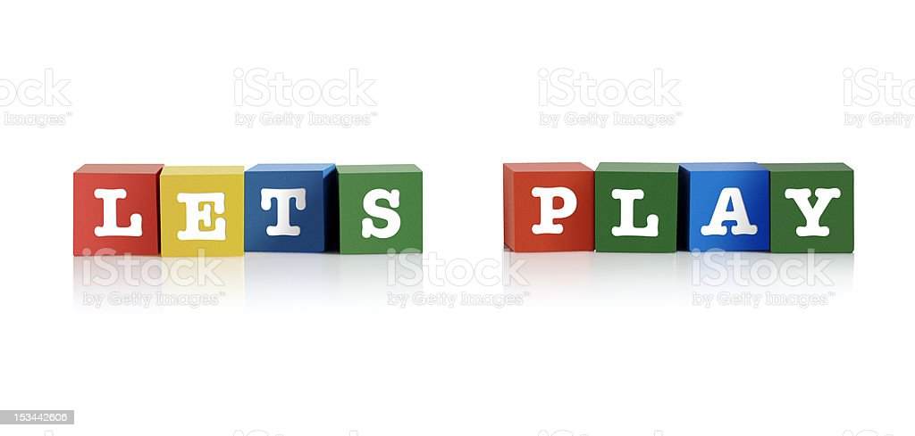 Let's play royalty-free stock photo