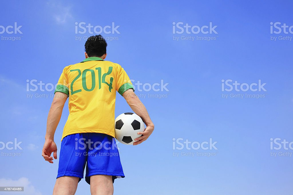 Lets play soccer now royalty-free stock photo