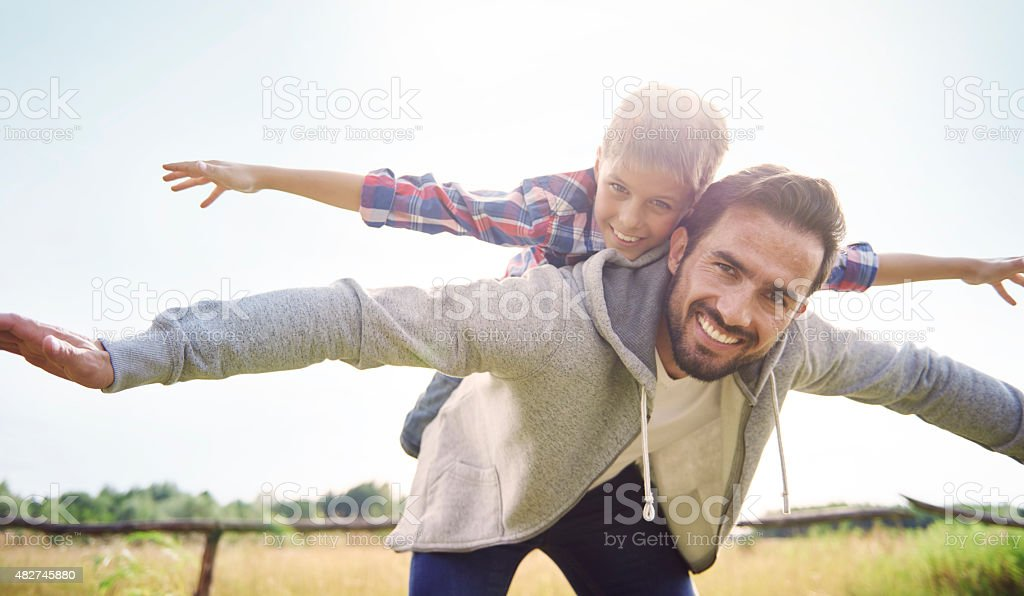 Let's play together on the fresh air stock photo