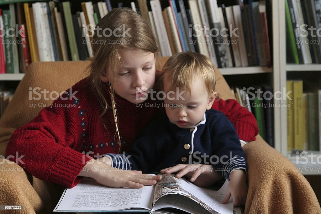 Let's read together royalty-free stock photo