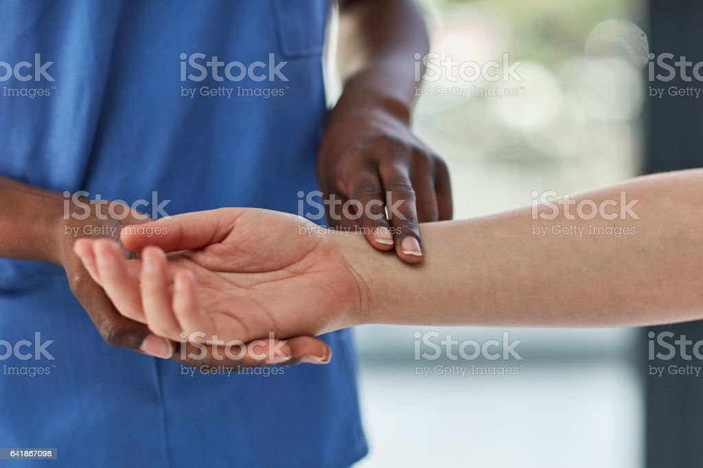 Let's read your heartbeat stock photo