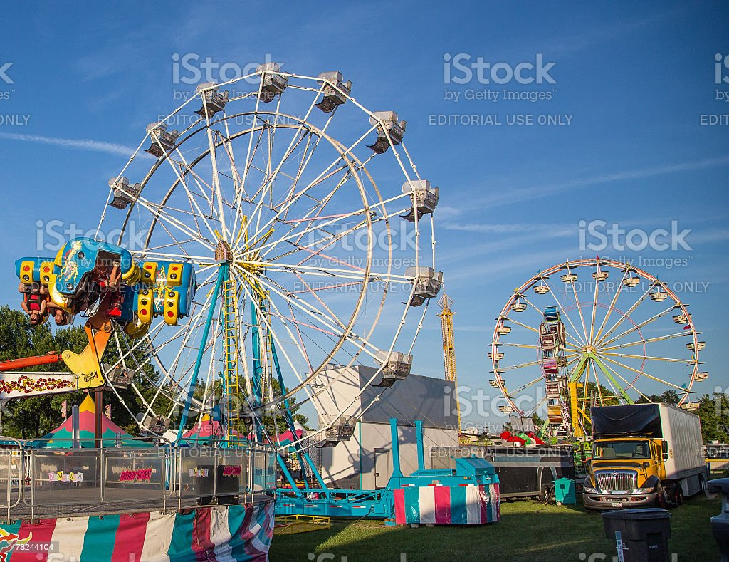 Let's Ride at the Fair stock photo