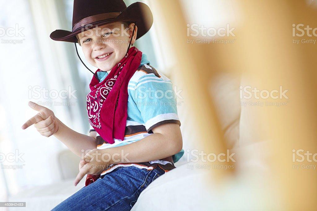 Let's ride cowboy! stock photo