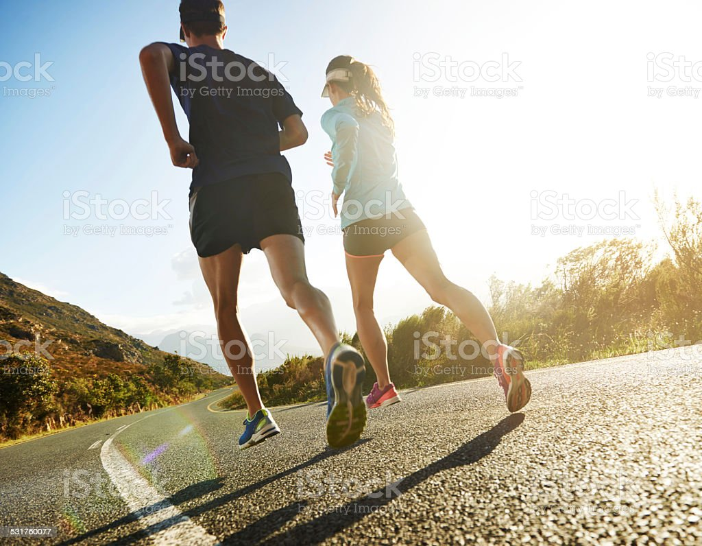 Let's run away together stock photo