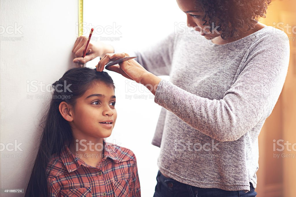 Let's see how much you've grown stock photo