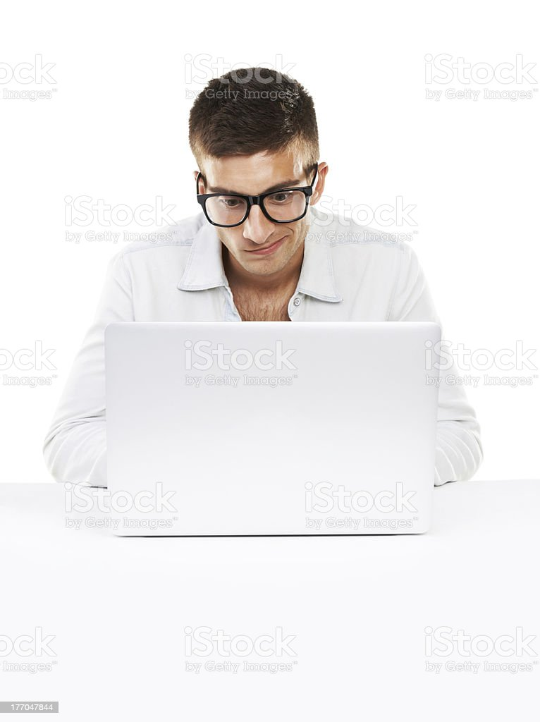 Let's see what the world wide web has to offer royalty-free stock photo