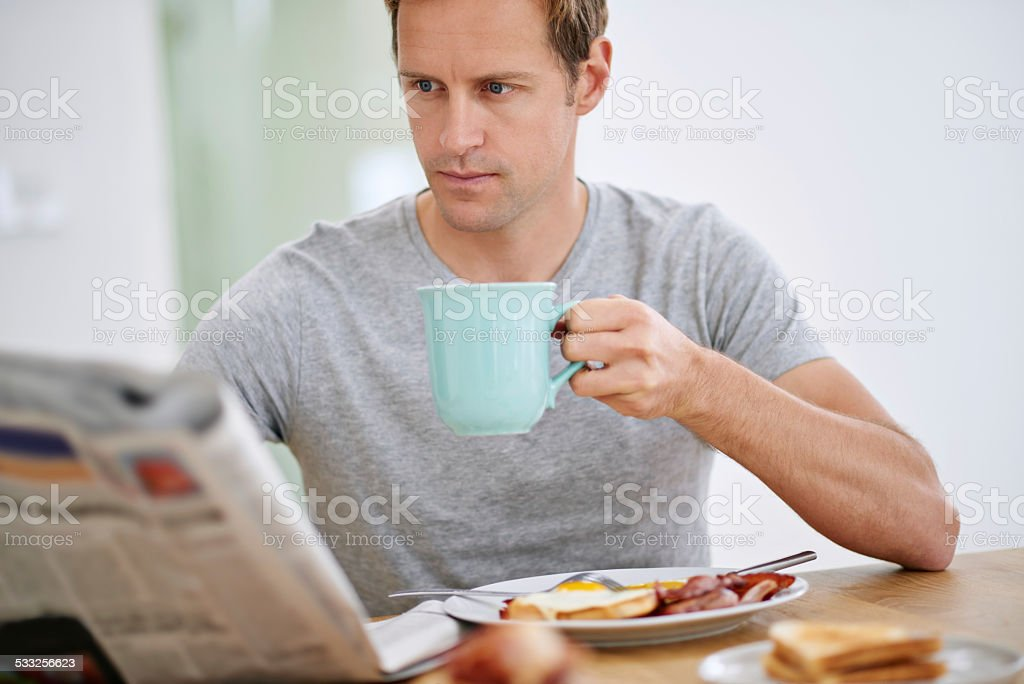Let's see what's happening in the world... stock photo