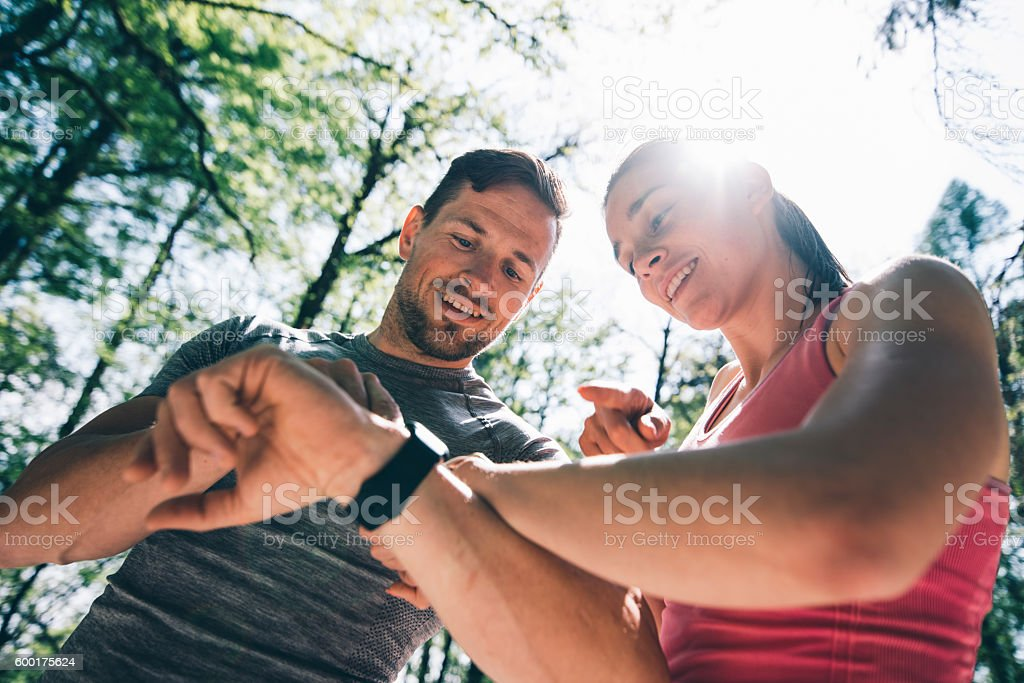 Let's see who won stock photo