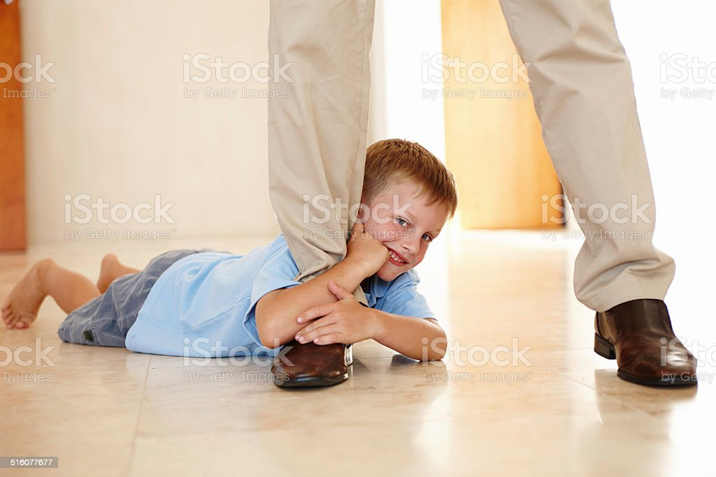 Let's see you get away from me now! stock photo