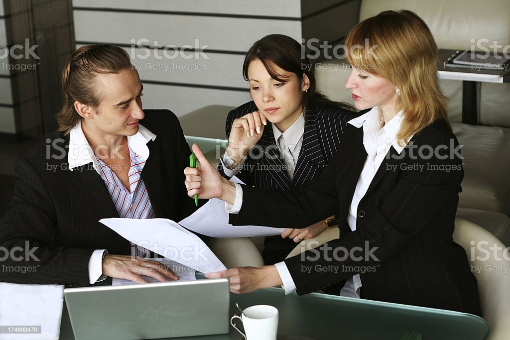 let's sign contract royalty-free stock photo