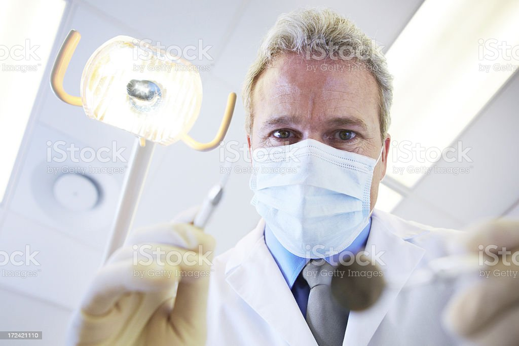 Let's sort these cavities out royalty-free stock photo