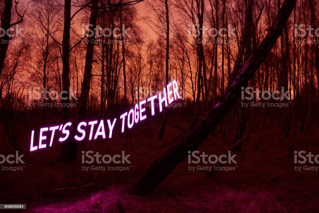Let's stay together stock photo