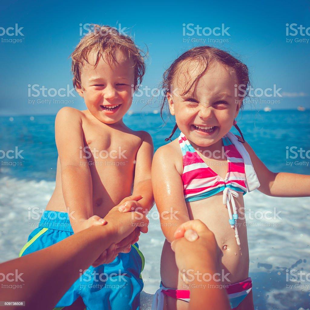 Let's swim! stock photo