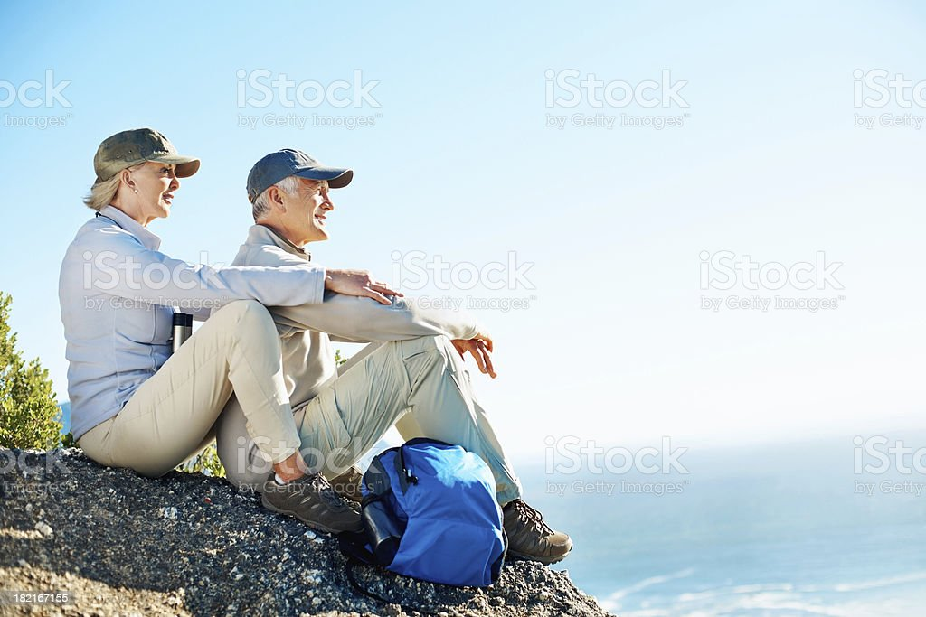 Let's take a break and enjoy the view royalty-free stock photo