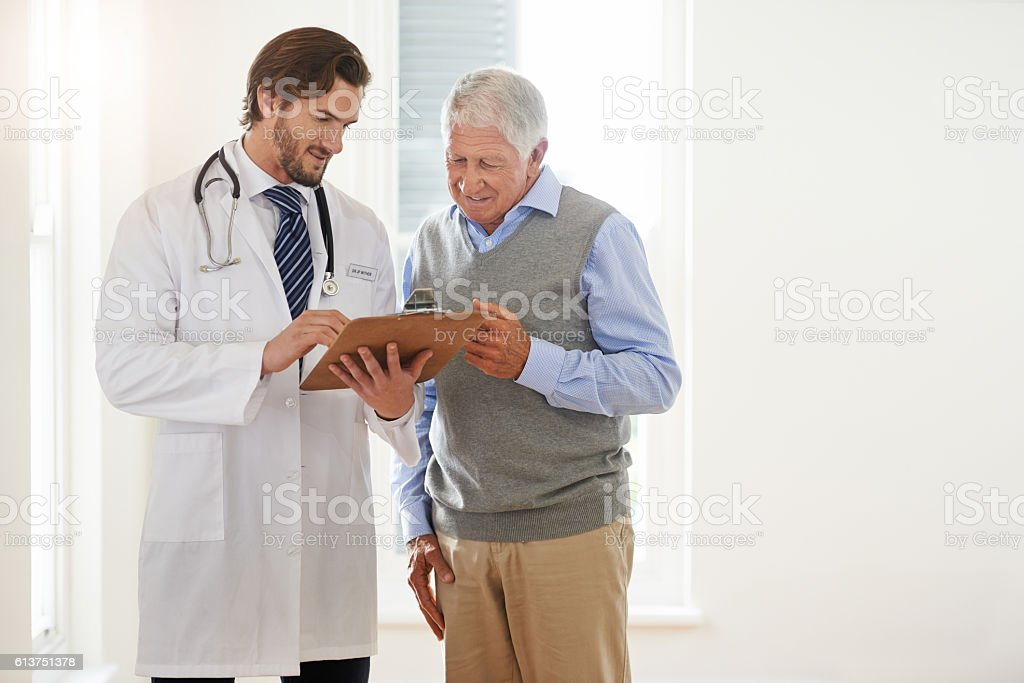 Let's take a look at your latest medical results stock photo