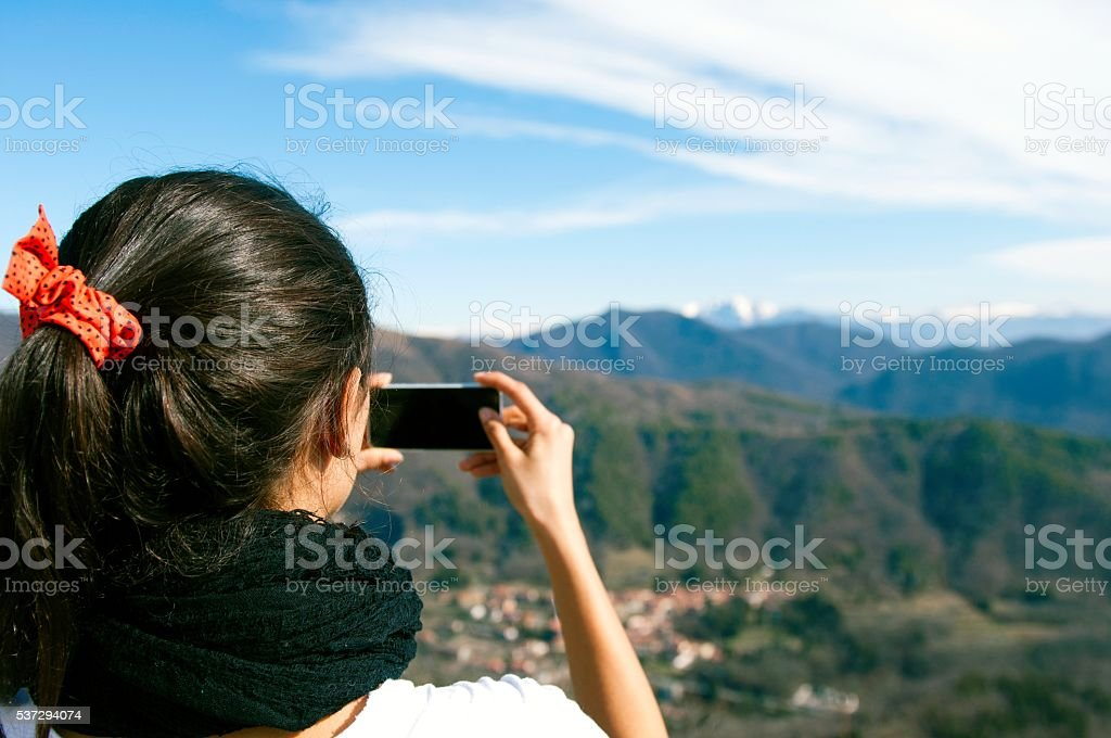 Let's take a picture. stock photo