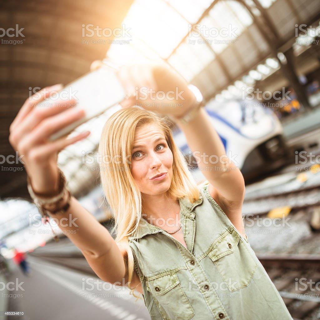 lets take a selfie stock photo