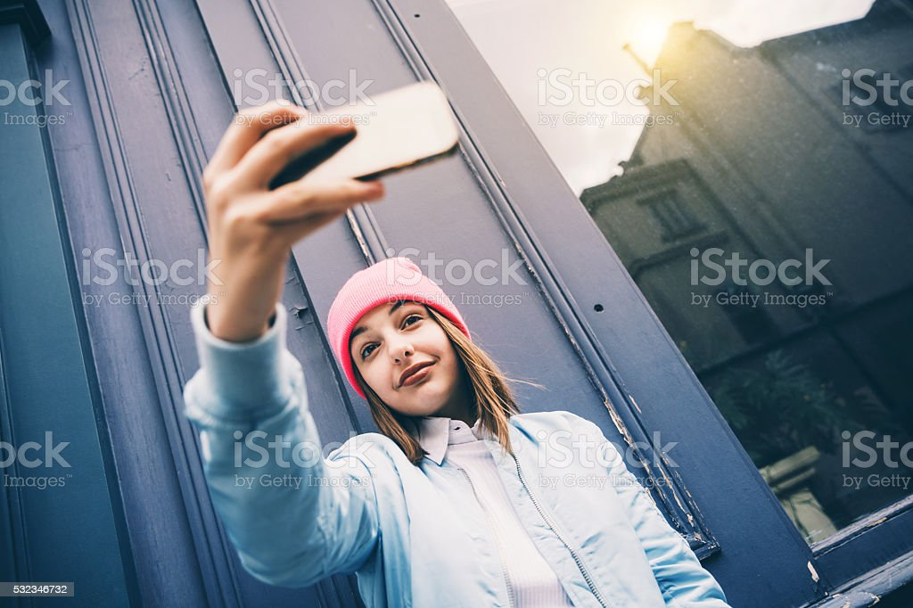 lets take a selfie stock photo