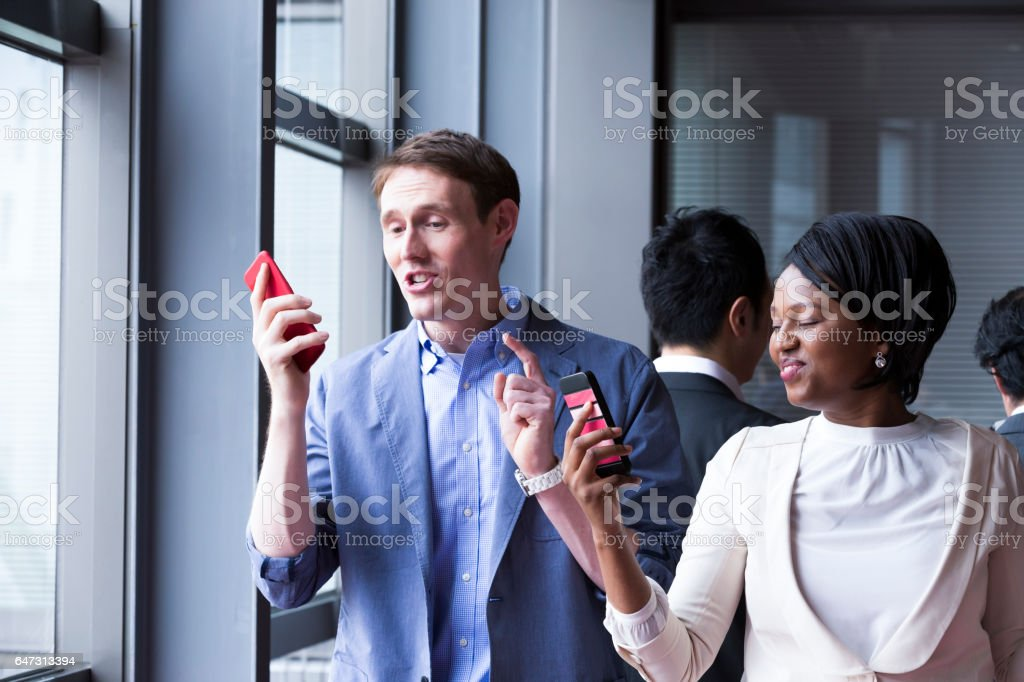 Let's test this new calling service stock photo