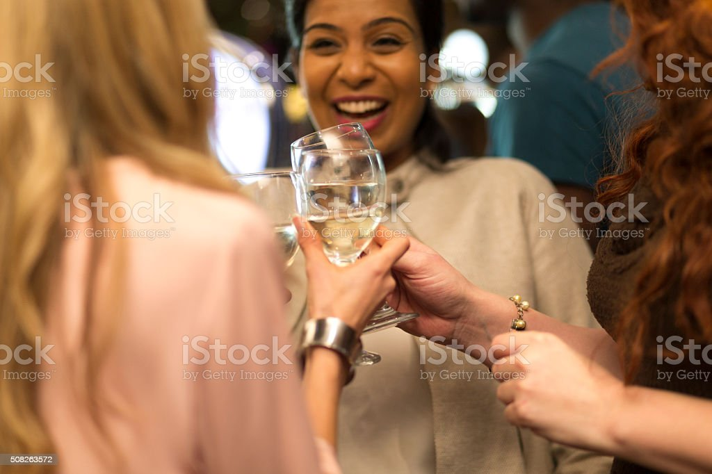 Let's toast to this! stock photo