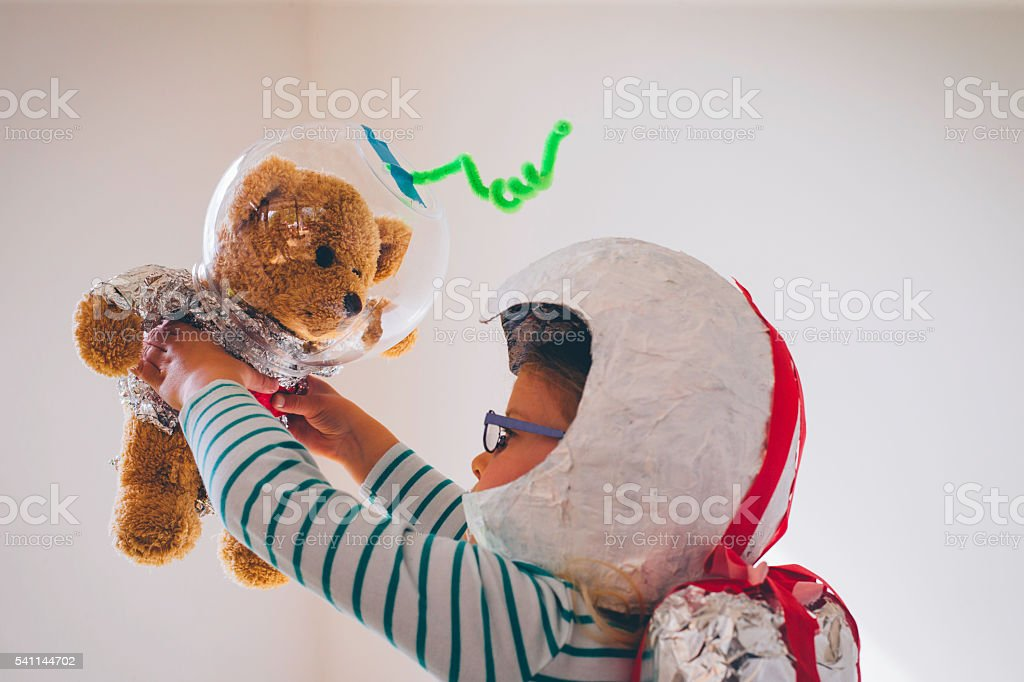 Let's travel to space! stock photo