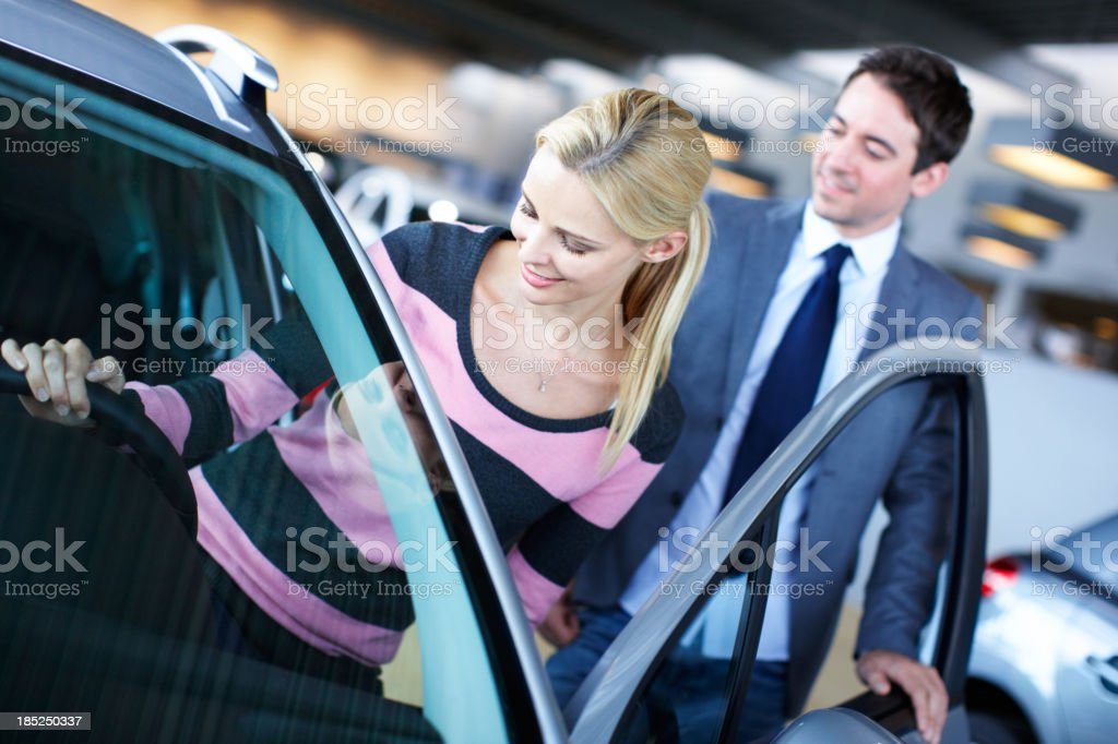 Let's try this one - Car shopping royalty-free stock photo